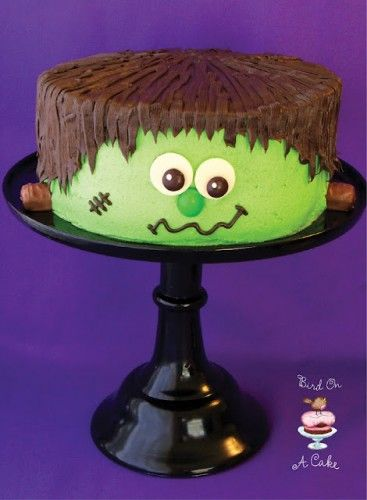 Frankenstein's Monster cake - Halloween Cake - For all you cake decorating supplies, please visit craftcompany.co.uk