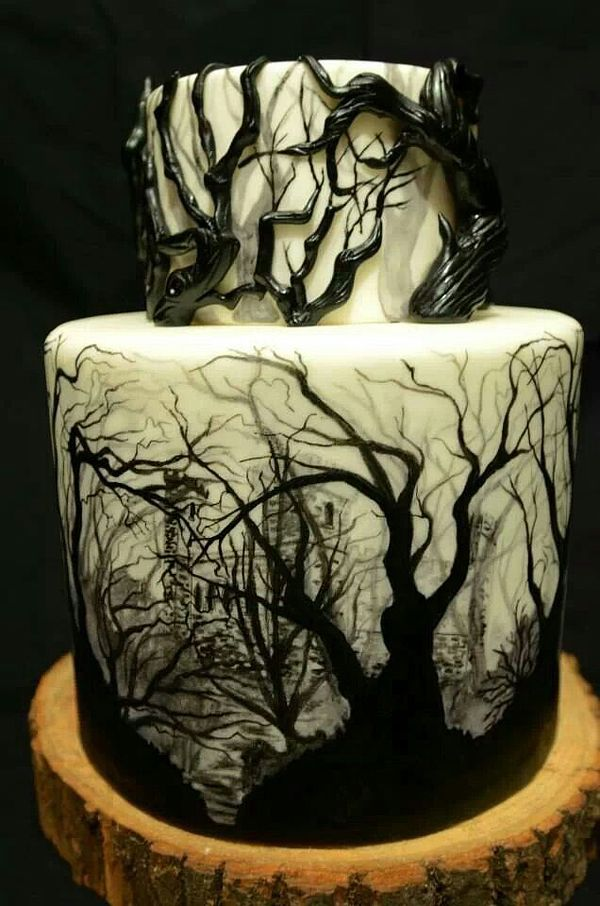 Creepy Tree Cake