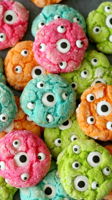 Gooey Monster Eye Cookies Recipe for trick or treaters!