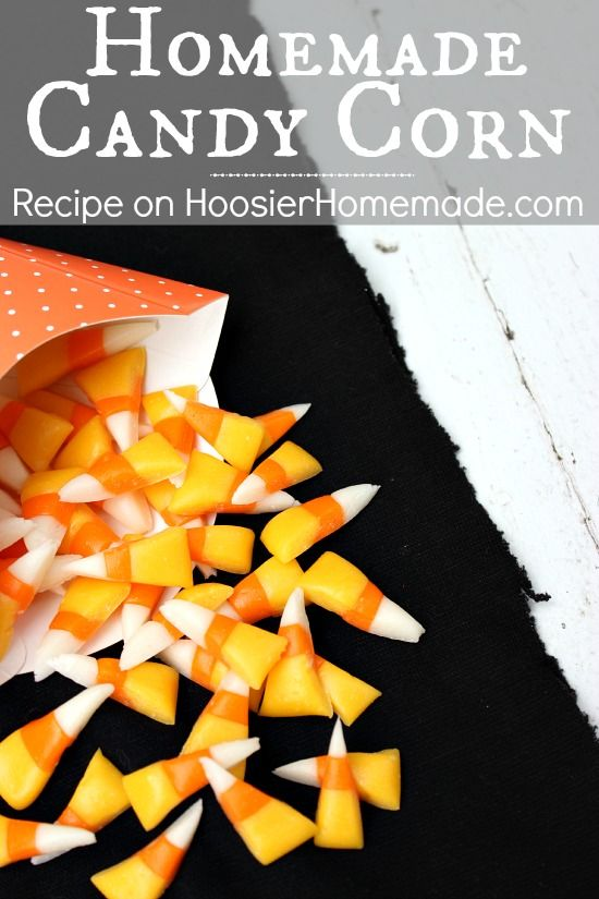 Homemade Candy Corn :: Recipe and Tutorial on HoosierHomemade.com #CandyCorn #Recipe #Homemade