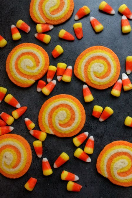 candy corn cookies...great for a school treat or weekend with kids helping make them:)