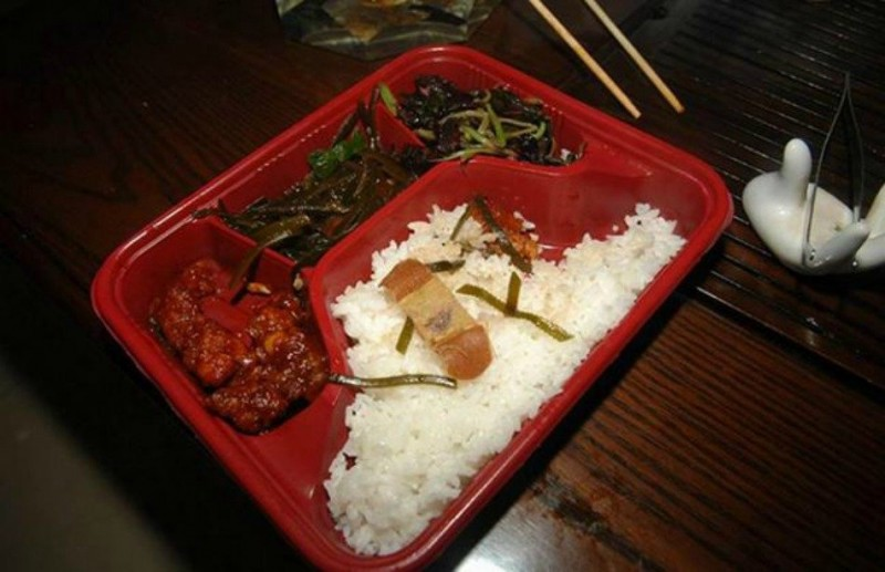 A woman in China was served up a used, bloody bandage in her Chinese takeout in 2010.