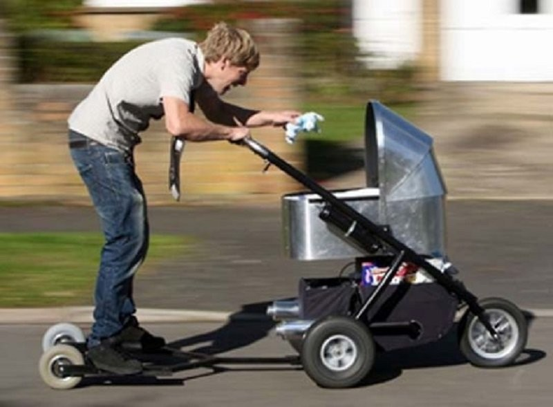 The baby stroller scooter