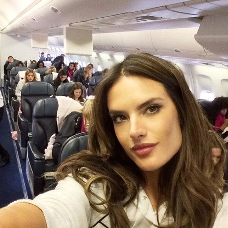 Airplane full of Victoria secret models.