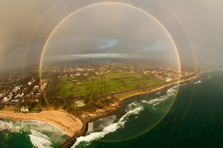 Forget double rainbow, how about a rainbow 360.