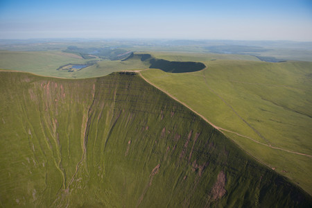The Brecon Beacons mountain range in South Wales.